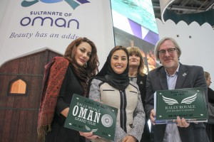 Left to Right:  CEO Ruba Jurdi of Rally Royale, Her Excellency Maitha Al Mahrouqi, Undersecretary at the Ministry of Tourism, UK Marketing Brand Representative, Alison Cryer of Oman Tourism and Marketing Director Arthur op den Brouw of Rally Royale.